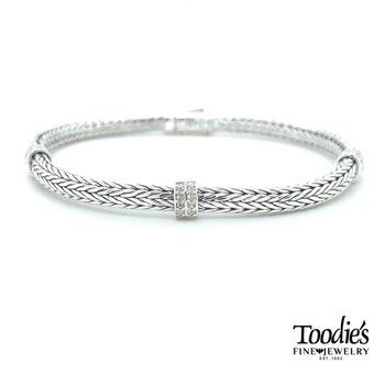 Triple Station White Sapphire Bracelet