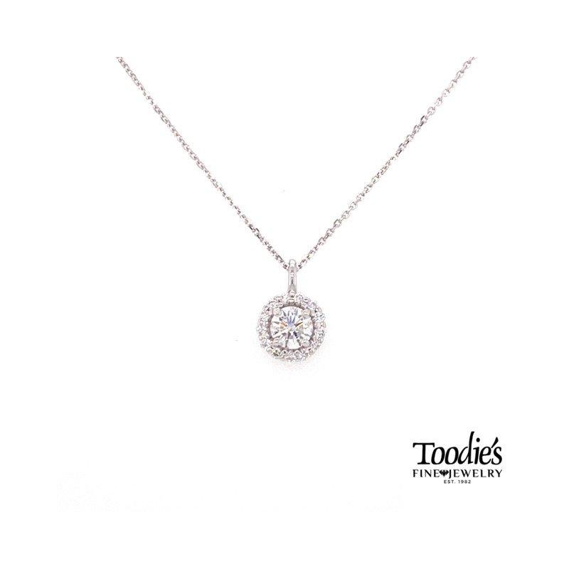 Toodie's Signature Fashion Round Diamond Halo Necklace