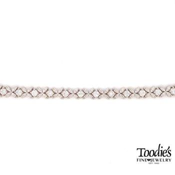 Flower Design Tennis Bracelet