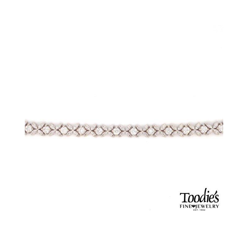 Toodie's Signature Fashion Flower Design Tennis Bracelet