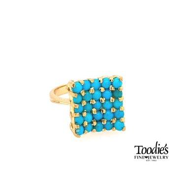 "The ""Nikki"" Vintage Turquoise Cocktail Ring"