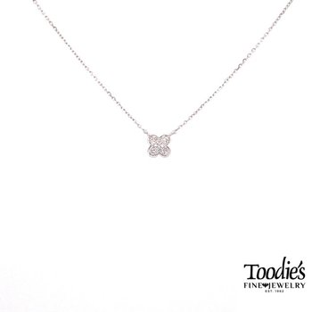 Mini Diamond Clover Design Pendant