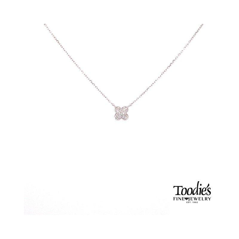 Toodie's Signature Fashion Mini Diamond Clover Design Pendant