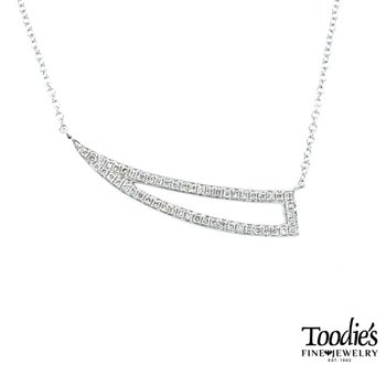 Pointed Diamond Bar Necklace