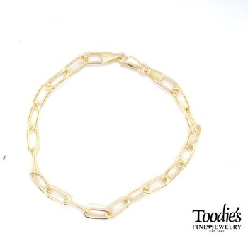 Paper Clip Style Link Bracelet