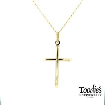 Plain Polished Cross and Chain