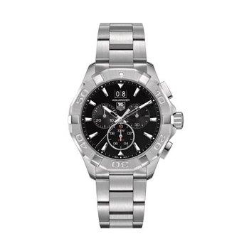 Aquaracer Quartz Chronograph Watch with Black Dial