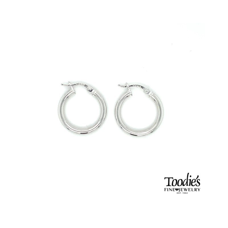 Toodie's Signature Fashion Sterling Silver Polished Hinged Hoop Earrings