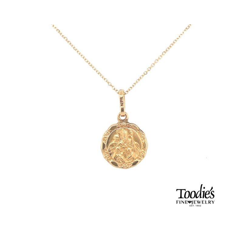 Toodie's Signature Fashion Gold Baptismal Medallion Necklace