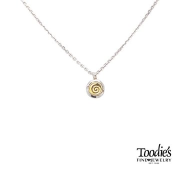 Mini Swirl Circle Pendant Necklace