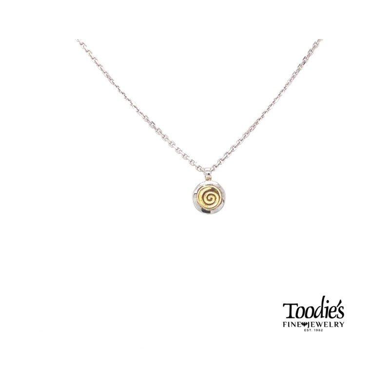 Charsinsky Designs Mini Swirl Circle Pendant Necklace
