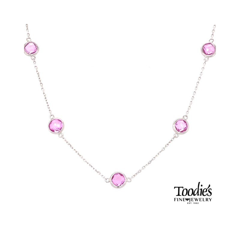 """Toodie's Signature Fashion """"Pink Quartz"""" By The Yard Necklace"""