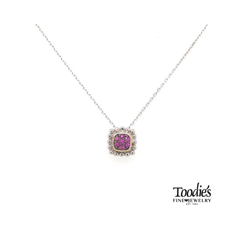 Phillip Gavriel Ruby Pendant Necklace