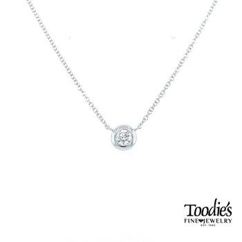 Bezel Set Diamond Solitaire Pendant