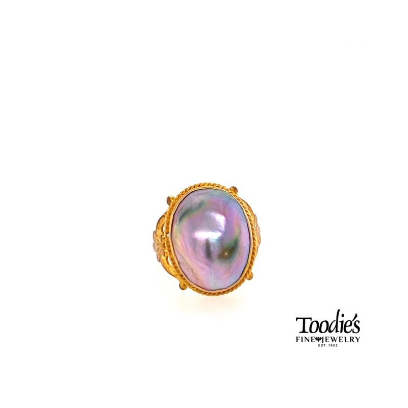Toodie's Signature Fashion Vintage Mobe' Pearl Ring