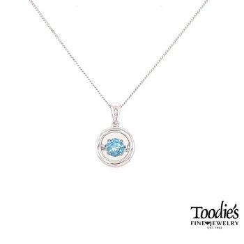 Dancing Blue Topaz Pendant Necklace