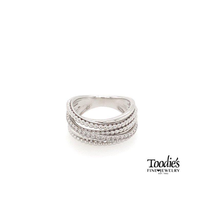 Gabriel Fashion Layered Bujukan Beaded Ring