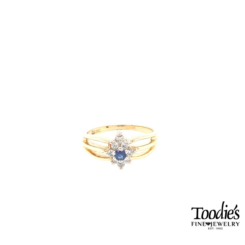 Toodie's Signature Fashion Vintage Sapphire and Diamond Starlite Ring