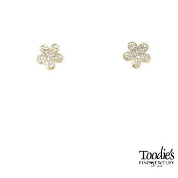 Flowery Diamond Studs