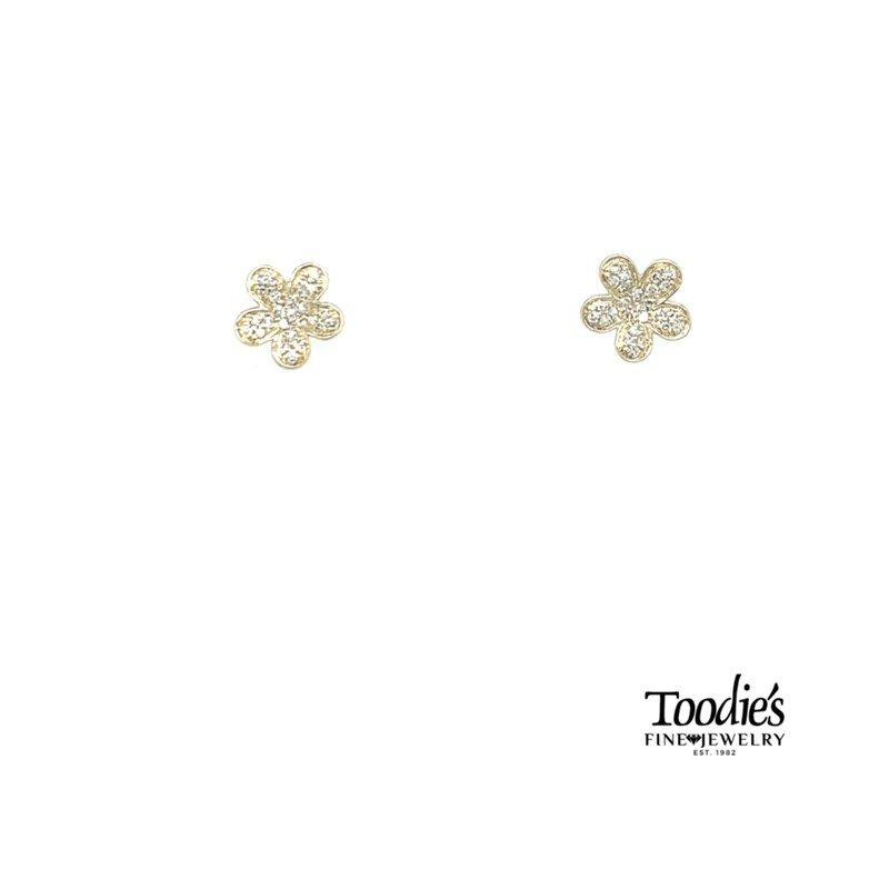 Shy Creation Flowery Diamond Studs