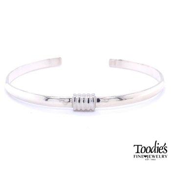 Smooth Wire Wrap Cuff Bracelet