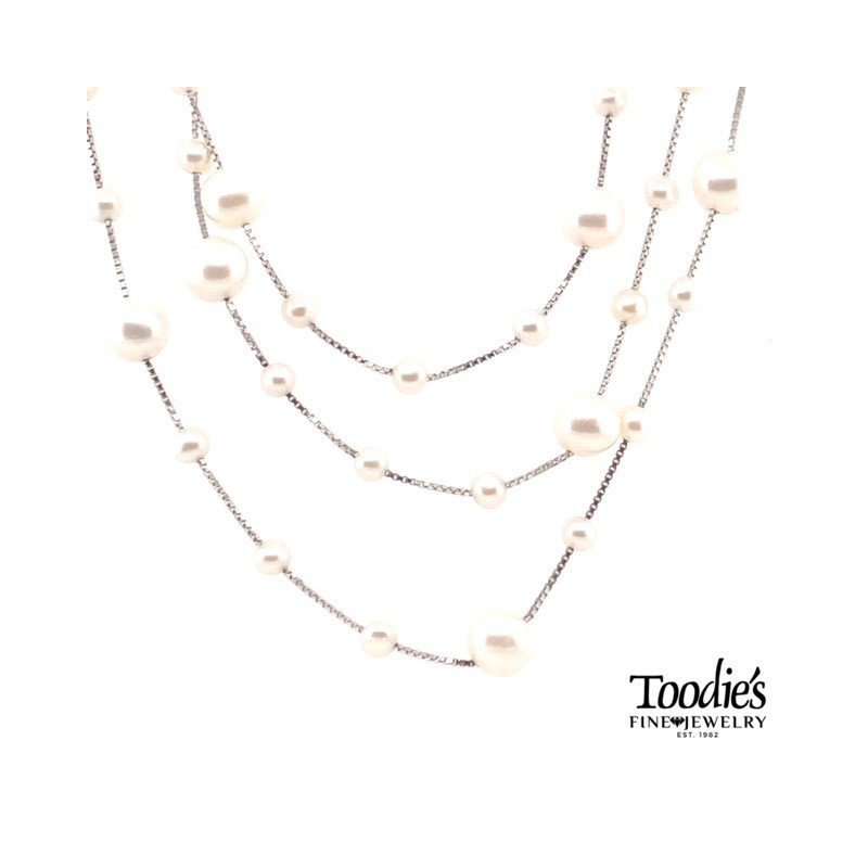 Toodie's Signature Fashion Freshwater Triple Strand Necklace