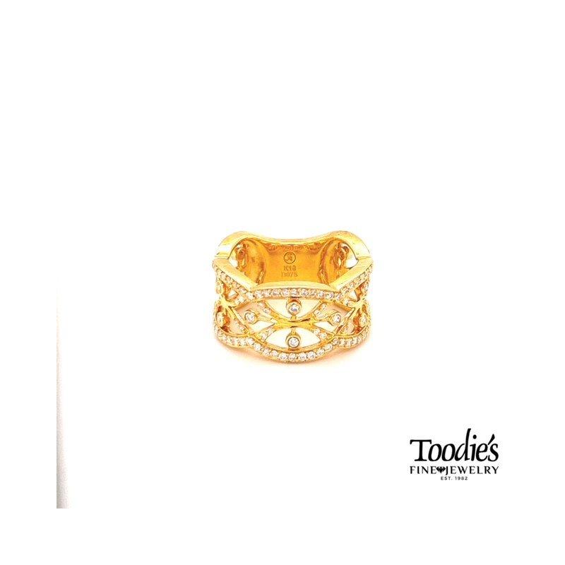 Toodie's Signature Fashion Diamond Filigree Ring