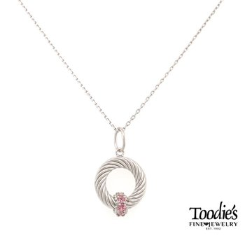 Pink Topaz Pendant Necklace