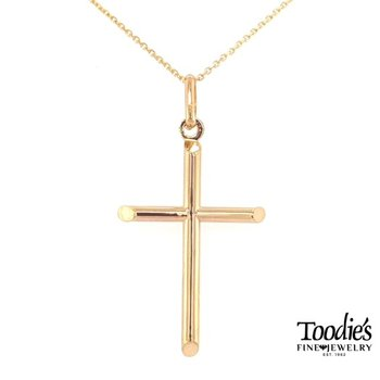 Gold Polished Cross Necklace