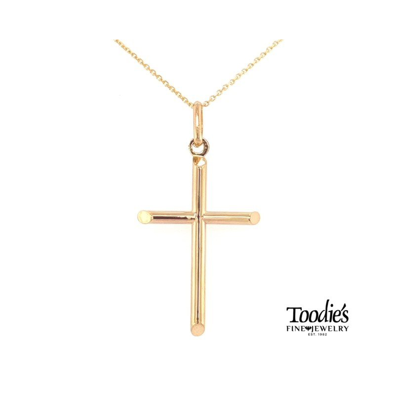 Toodie's Signature Fashion Gold Polished Cross Necklace