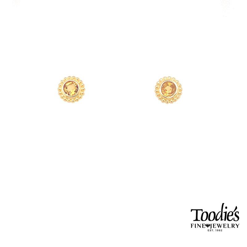 Phillip Gavriel Citrene Studded Earrings