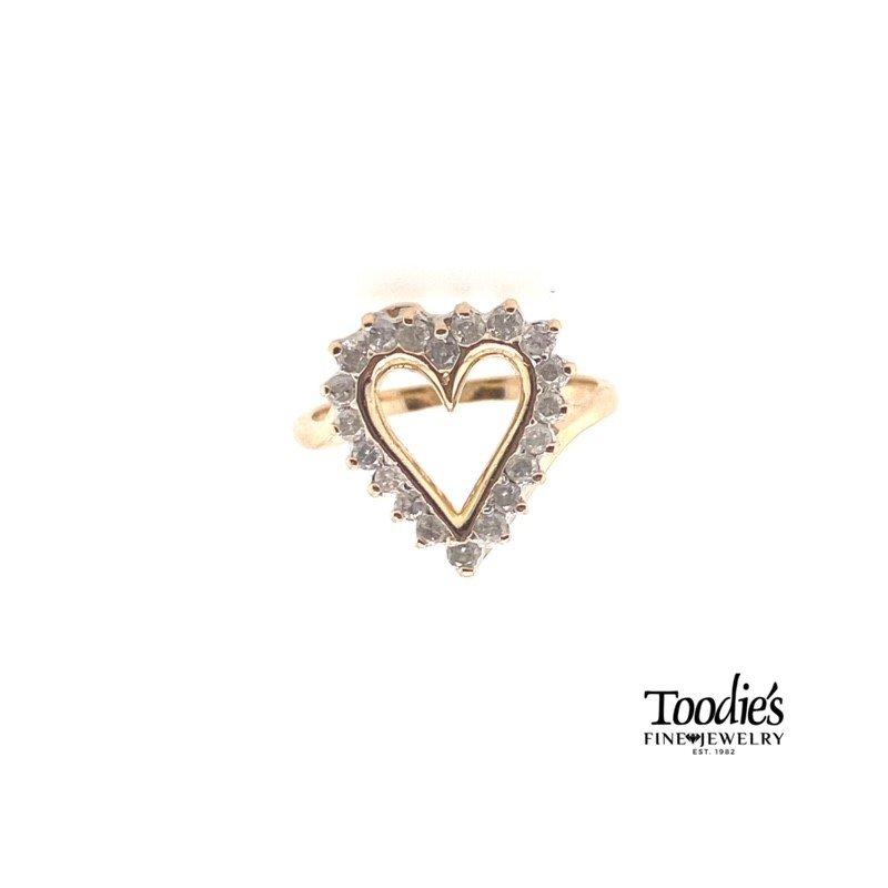 Toodie's Signature Fashion The Everlasting Love Diamond Heart Ring