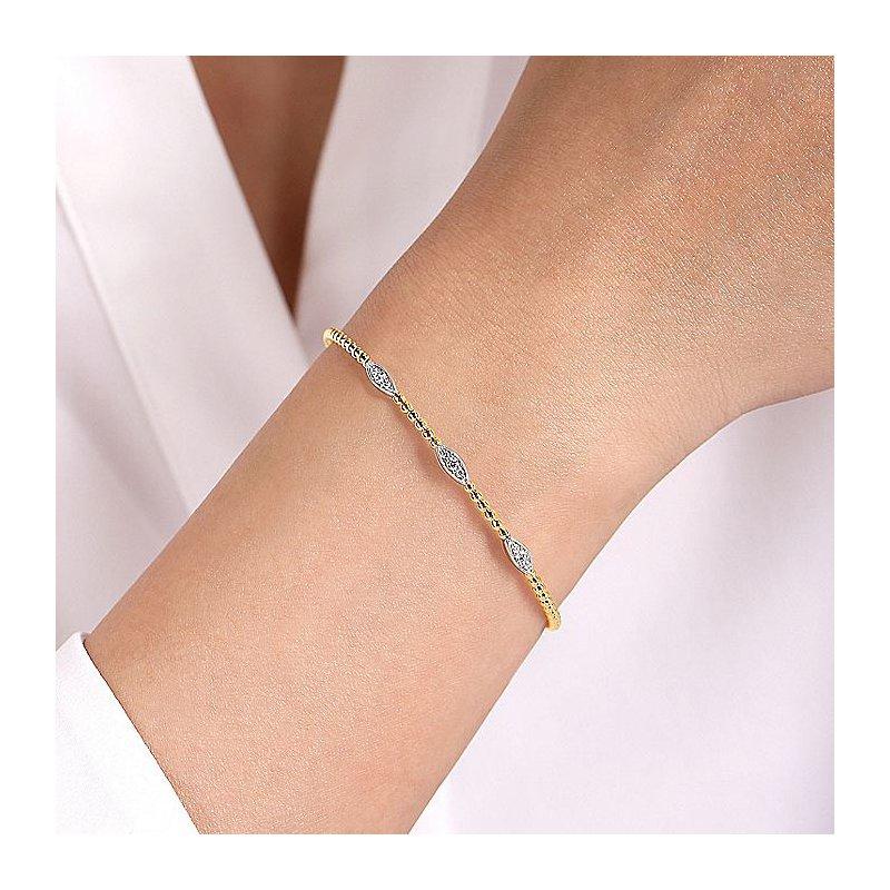 Gabriel Fashion Triple Station Marquise Shaped Bracelet