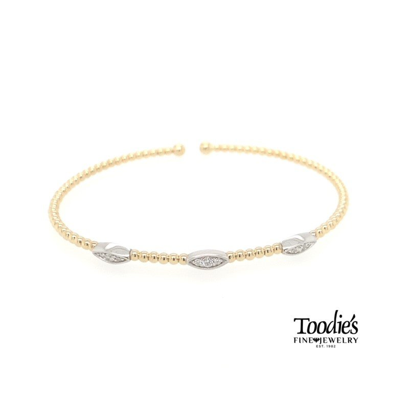 Gabriel Fashion Triple Station Marquise Shaped Bracelet