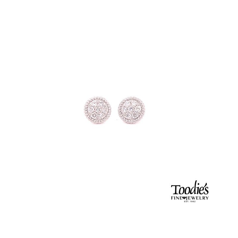 Toodie's Signature Fashion Button Studded Earrings