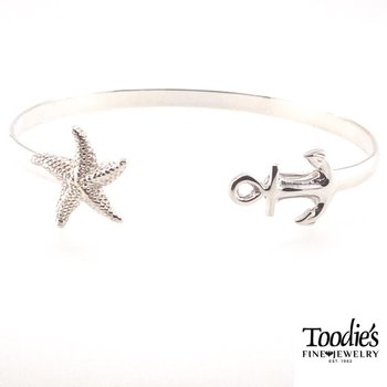 Anchor And Starfish Bracelet