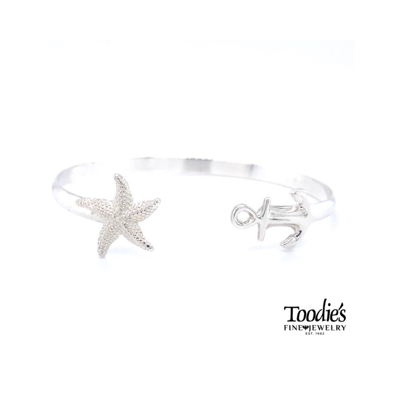 Toodie's Signature Fashion Anchor And Starfish Bracelet