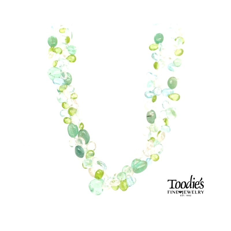 Toodie's Signature Fashion Multicolor Gemstone Necklace