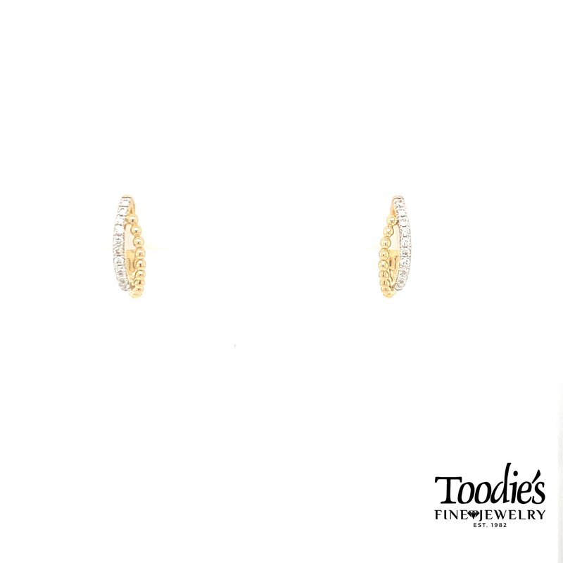 Gabriel Fashion Diamond Twisted Pave Earrings