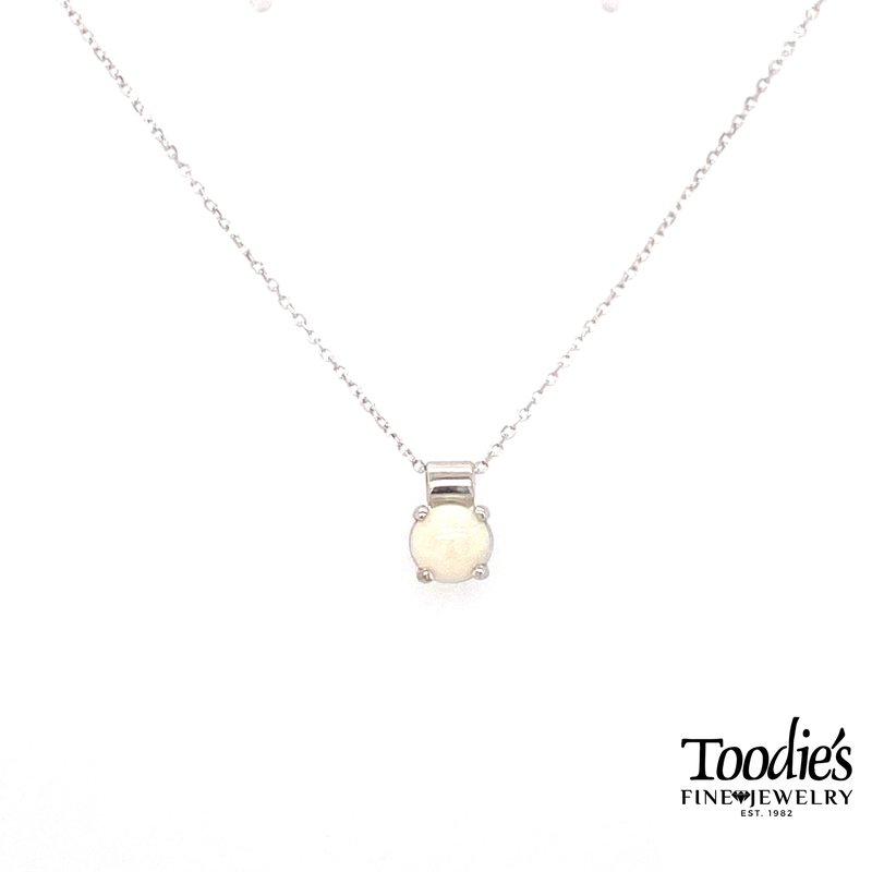 Toodie's Signature Fashion White Gold Opal Necklace