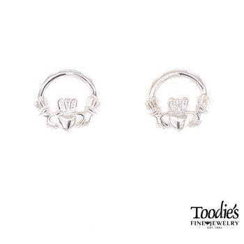 Silver Claddaugh Earrings