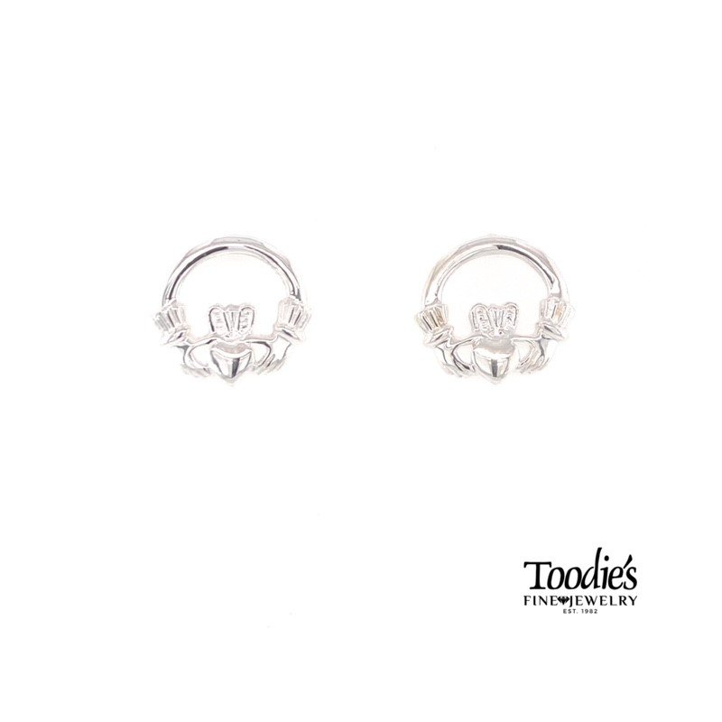 Toodie's Signature Fashion Silver Claddaugh Earrings