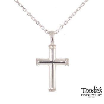 End Cap Cross Necklace