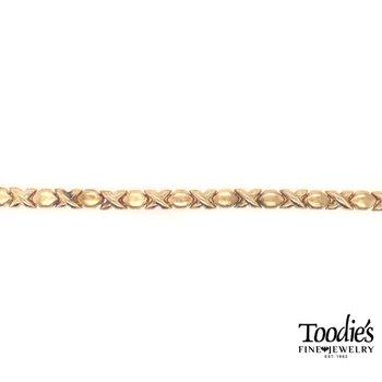 Gold XO Design Bracelet