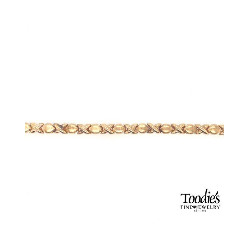 Toodie's Signature Fashion Gold XO Design Bracelet