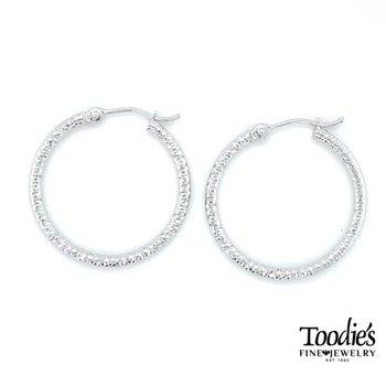 Diamond Cut Hooped Earrings