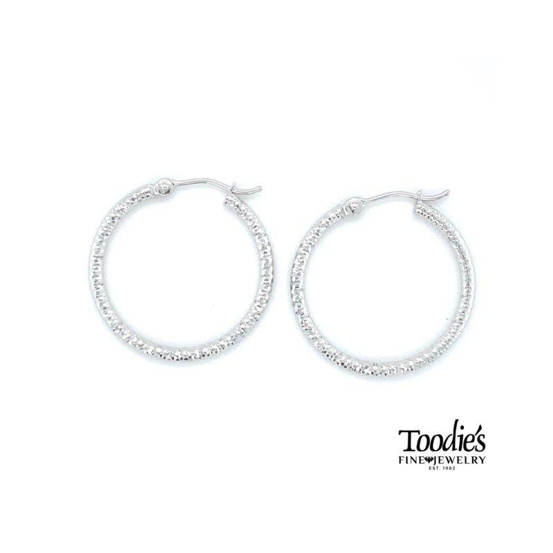Toodie's Signature Fashion Diamond Cut Hooped Earrings