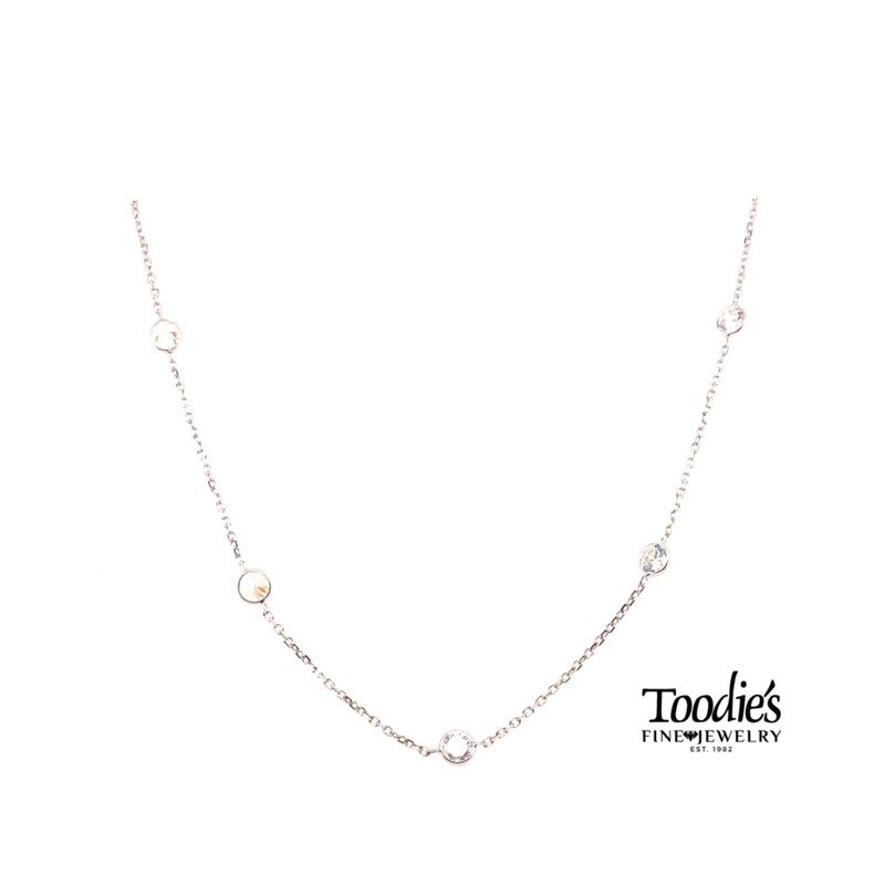 Toodie's Signature Fashion Cubic Zirconia's By The Yard Necklace