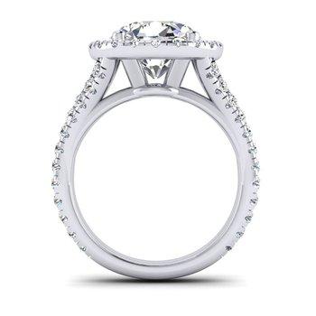 OMG Series Round Diamond Split Shank Engagement Ring