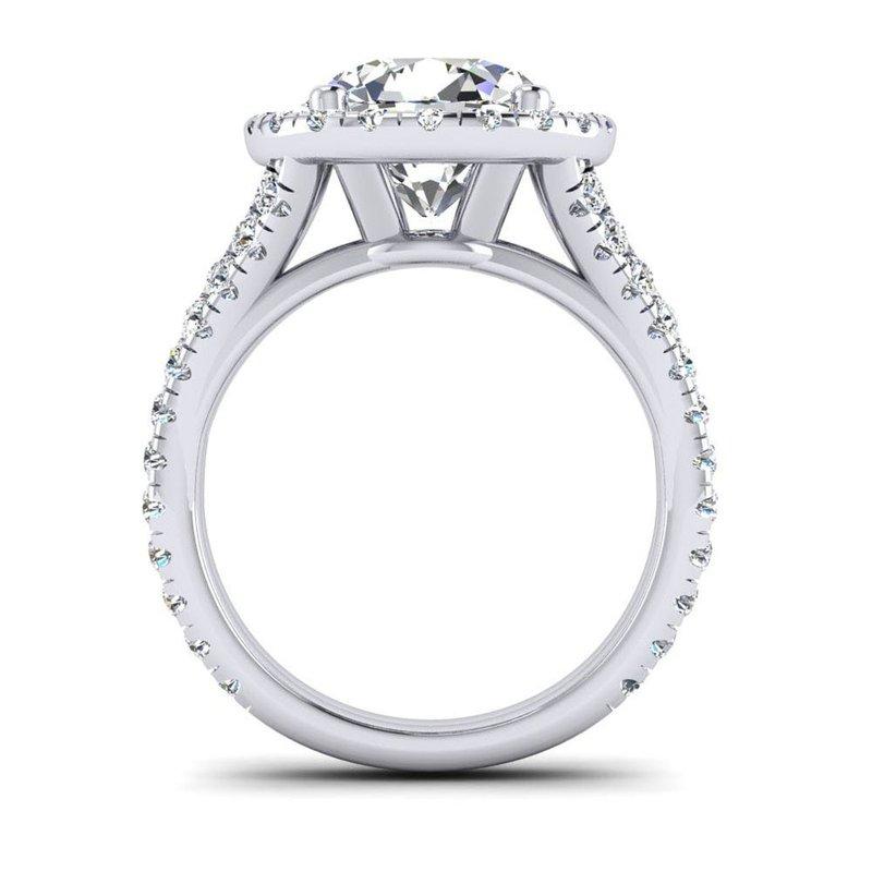 Toodie's Bridal OMG Series Round Diamond Split Shank Engagement Ring